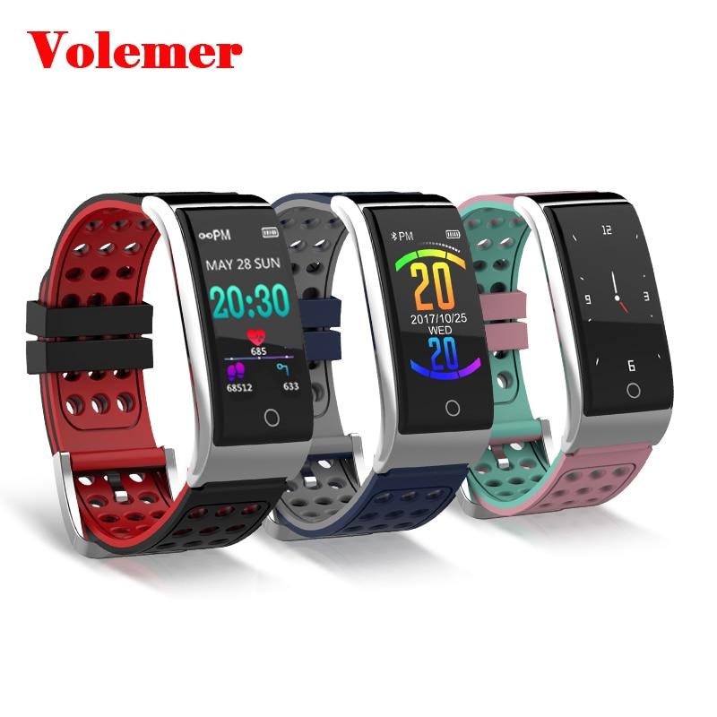 купить Volemer E08 Fitness Bracelet Heart Rate Monitor ECG PPG Blood Pressure Smart Bracelet Activity Tracker Oxygen Monitor Smart Band по цене 1484.46 рублей