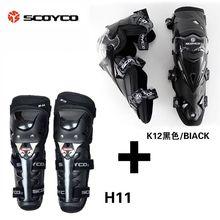 De Scoyco K12H11 Protector Codo Rodillera Equipo de Protección CE Motocicleta Protector Engranajes Deportes Scooter Motor-Racing Guardias de Seguridad