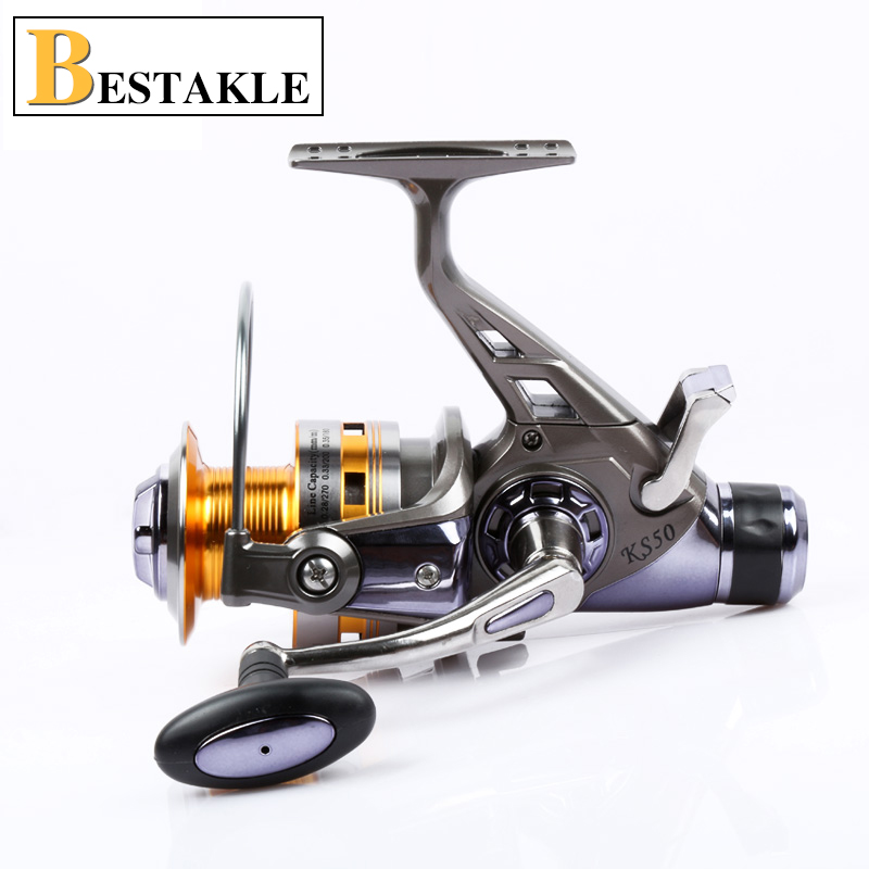 Carrete de pesca más vendido de alta calidad, carrete giratorio de la serie 1000-9000, carretes de rodamiento de bolas de la rueda giratoria de precarga 04