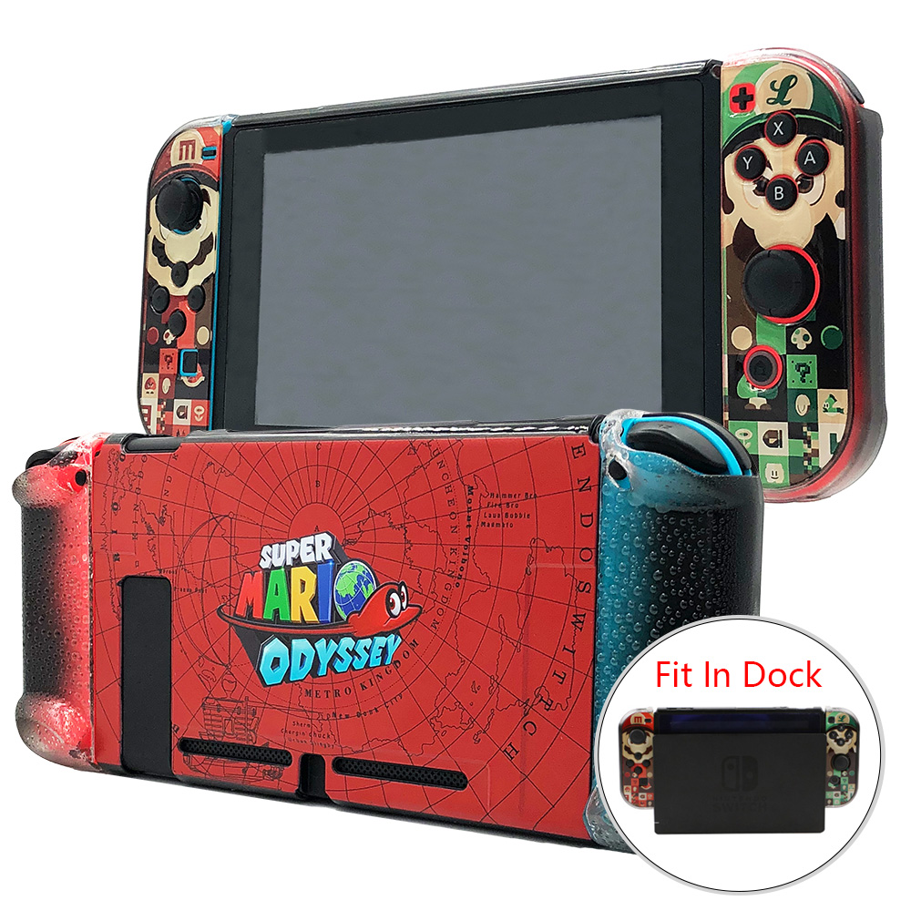 Nintend switch Hard Case and Joy-Con Controller Grips Fit-In-Dock Protection Shell Cover for NS Console электрическая плита mora cs103mw белый