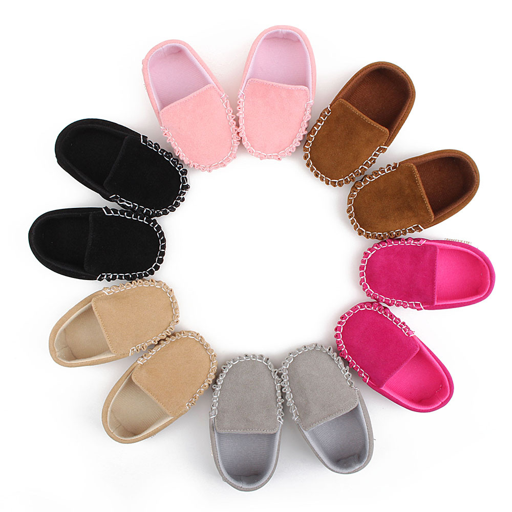 Newborn Soft Baby Boy Girl Slip-on Shoes Scrub Matte Bebe Anti-slip Footwear Crib Shoes First Walker Infant Toddler Baby Shoes