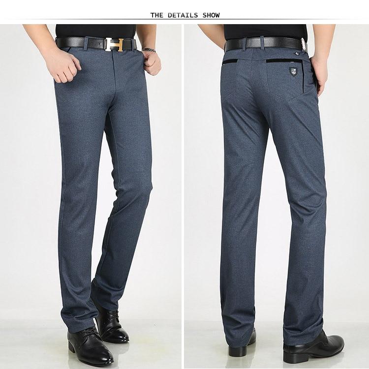 HTB1RfymX42rK1RkSnhJq6ykdpXar Classic Pants Men Suit Dress Casual Pants Men Straight Fit Business Work Office Formal Pants Big Size Autumn Men's Trousers Male