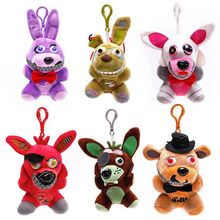 In stock Five Nights At Freddy's 4 FNAF Freddy Fazbear Bear Mangle Foxy bonnie chica Plush Toys Doll 15(China)