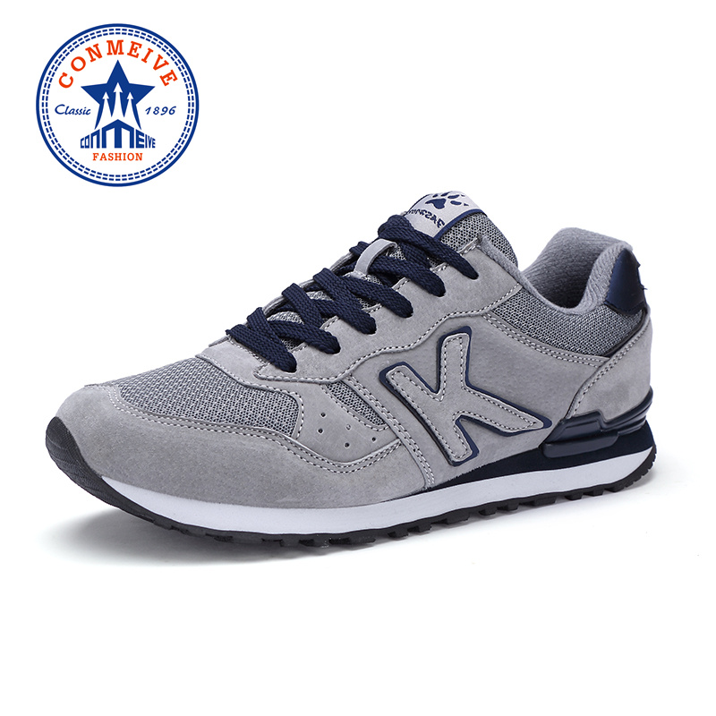 Brand Light Running Shoes for Men Spring Autumn Artificial Genuine Leather Breathable Sport Cushioning Lace Up Man Sneakers