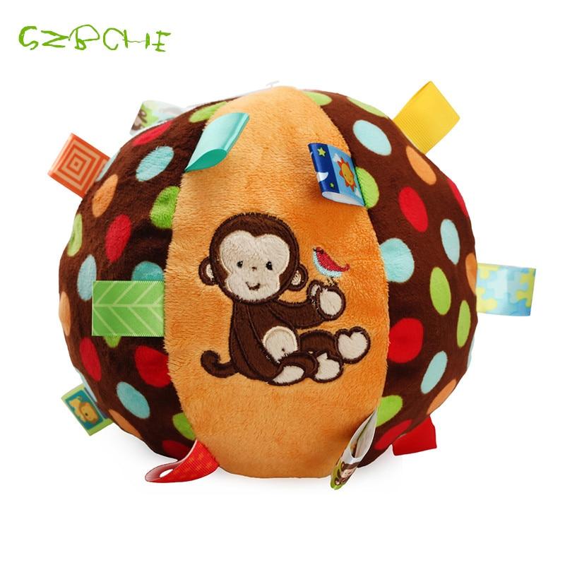 Baby pompoen Bal Leuke pluche Zachte doek Handrammelaars Beltraining - Speelgoed voor kinderen