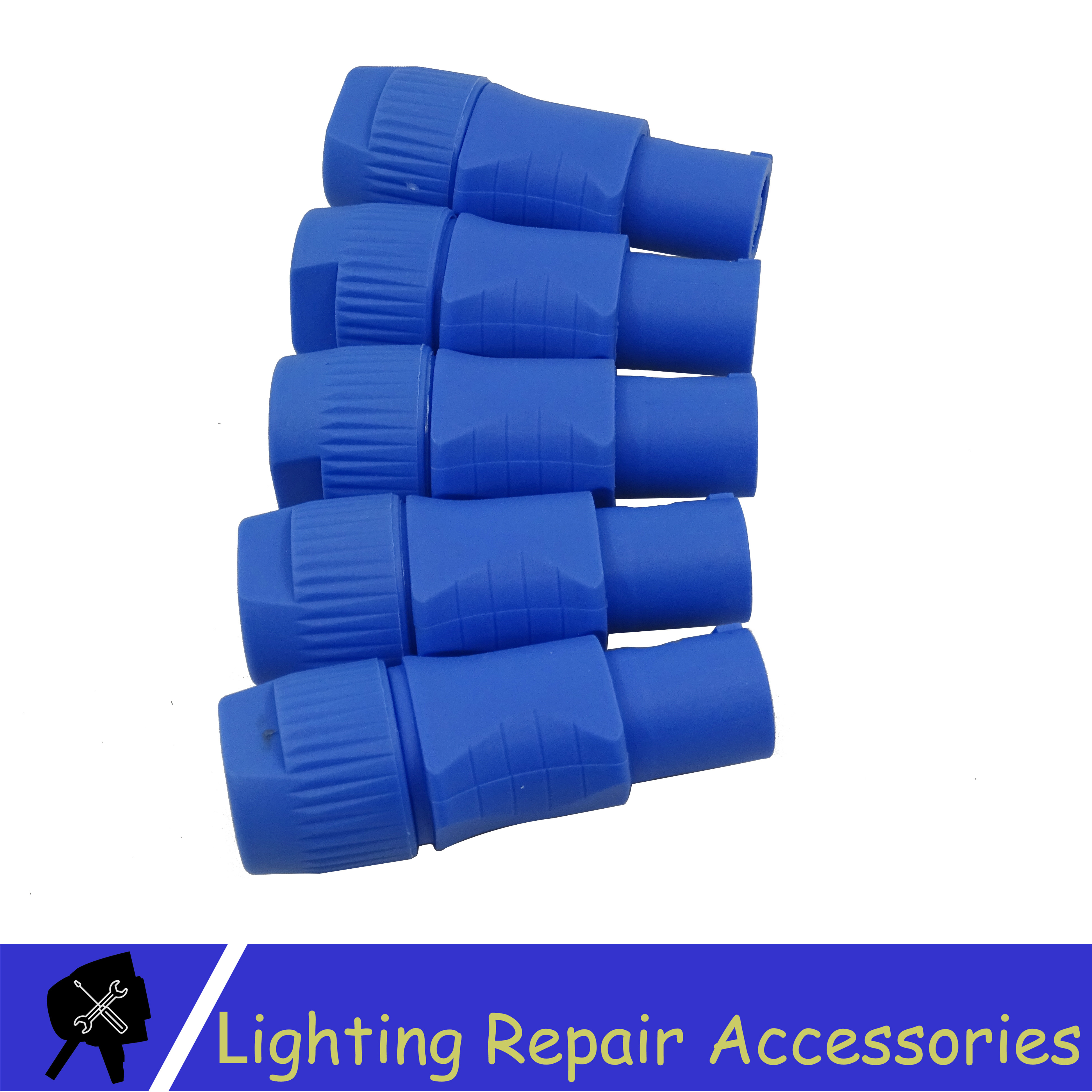 5pcs/lots 3-PIN Blue Connector Great Quality Power Plug For LED Stage Light Moving Head Light Audio Cable Power Cable