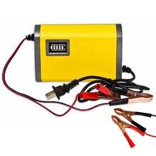 Мощность Зарядное устройство 220 В AC для мотоцикла 12 В 6a Интеллектуальный автоматический Автомобильная Батарея Зарядное устройство Напряжение Перезаряжаемые Батарея