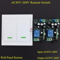 110V Remote Control Switch Wall Panel Remote Transmitter Hall Bedroom Ceiling Lights Wall Lamps Wireless Switch