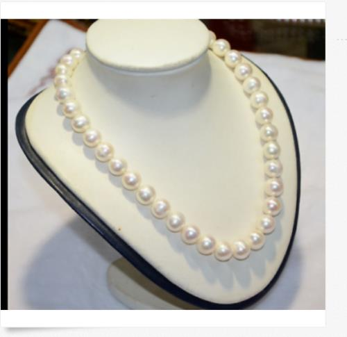 """classic huge 18""""12-13mm natural south sea genuine round white pearl necklace 14k"""