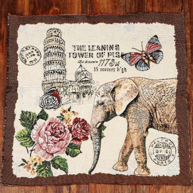 Diy handwerk elefanten muster bedruckten stoff leinen/baumwolle ...