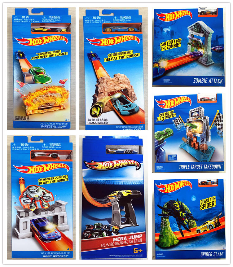 Hot Wheels Track ESS BSC Pop-up Launch Car Kids Toys For Children Diecast Brinquedos Hotwheels   Birthday Gift BLR01