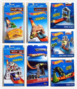 Hot Wheels utwór ESS BSC Pop-up uruchomienie samochodu dzieci zabawki dla dzieci Diecast Brinquedos Hotwheels prezent urodzinowy BLR01 tanie i dobre opinie Z tworzywa sztucznego 3 lat odlew 1 20 Samochód Educational Wind Up Slot Mini Pull Back
