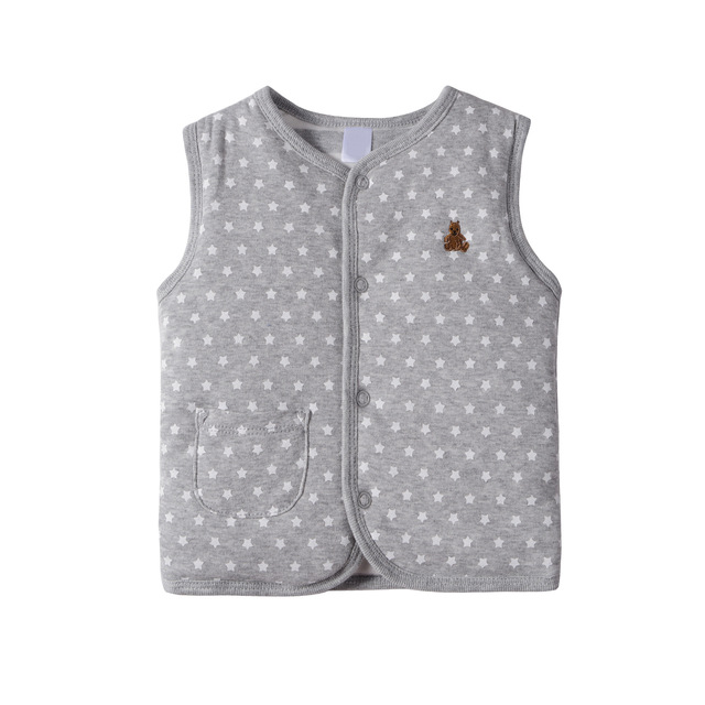 Casaco de inverno bebê duplo preenchimento de algodão meninas roupas de grife meninos traje do bebê engrossar colete clothing newborn infants colete