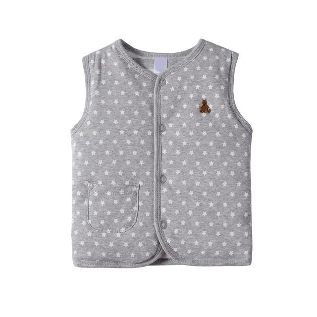 Invierno bebé de la capa doble de algodón acolchado niñas ropa de diseño niños bebés traje espesar chaleco newborn infants clothing chaleco