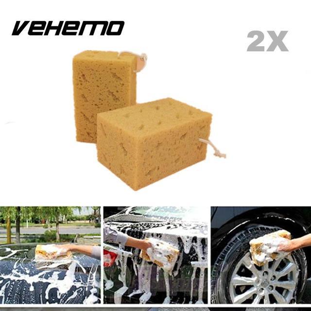 Vehemo 2 Stks Car Auto Wassen Spons Blok Honingraat Grote Duurzaam