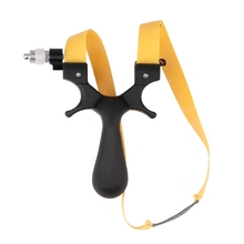 Outdoor Plastic ABS Slingshot Powerful Catapult High Speed Hunting Bow Portable Light Aiming Shooting Tool Kits with Rubber Band