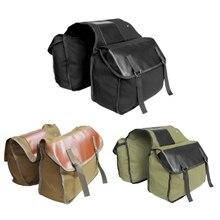 2019 Mountain Road Bicycle Bike Trunk Bags Waterproof Cycling Double Side Rear Rack Pouch Wear-resistant Tail Seat Pannier Pac недорого