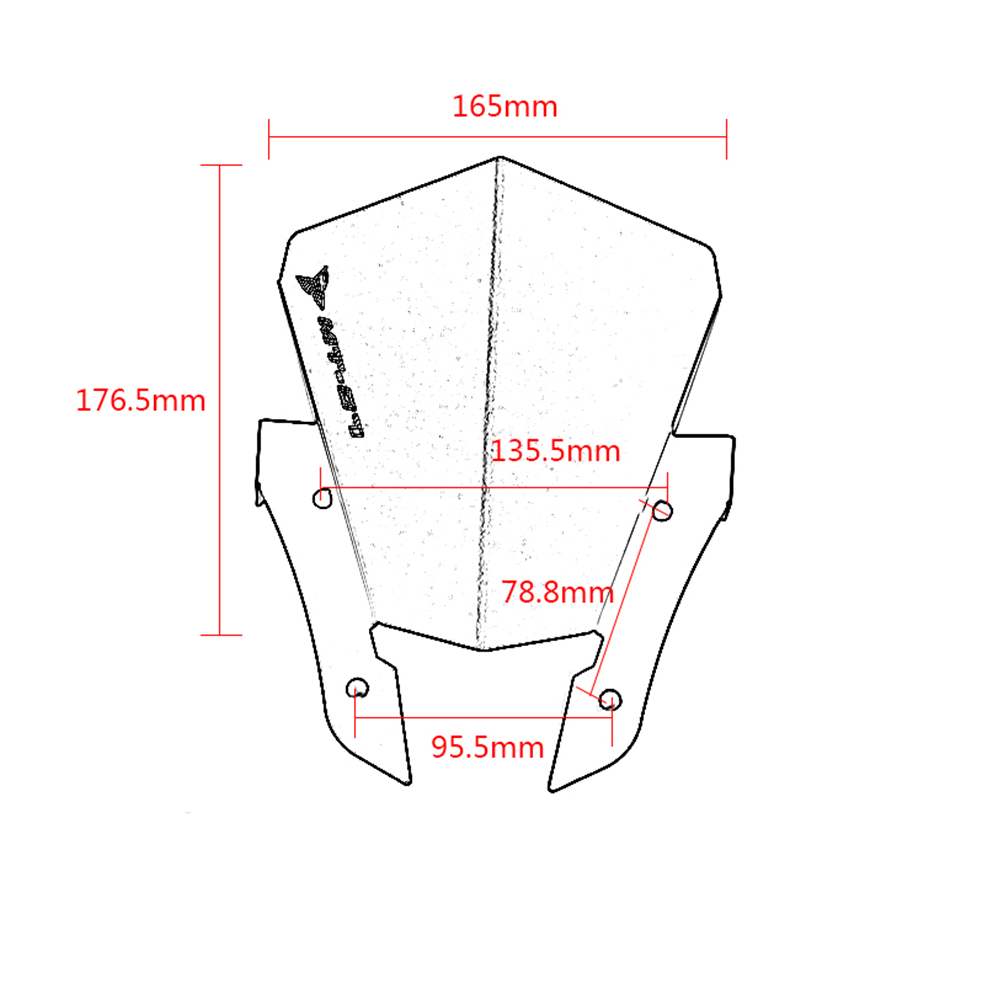 Motorcycle CNC Aluminum Alloy Windshield Windscreen Wind Deflector For Yamaha MT 07 MT 07 MT07 FZ 07 FZ 07 FZ07 2013 2017 in Covers Ornamental Mouldings from Automobiles Motorcycles