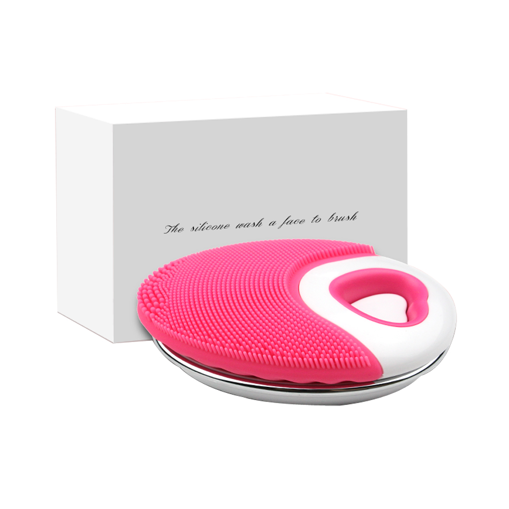 Electric Silicone Face Cleansing Brush Sonic Vibration Massage USB Rechargeable Smart Ultrasonic Face Cleaner Beauty Tool in Powered Facial Cleansing Devices from Home Appliances