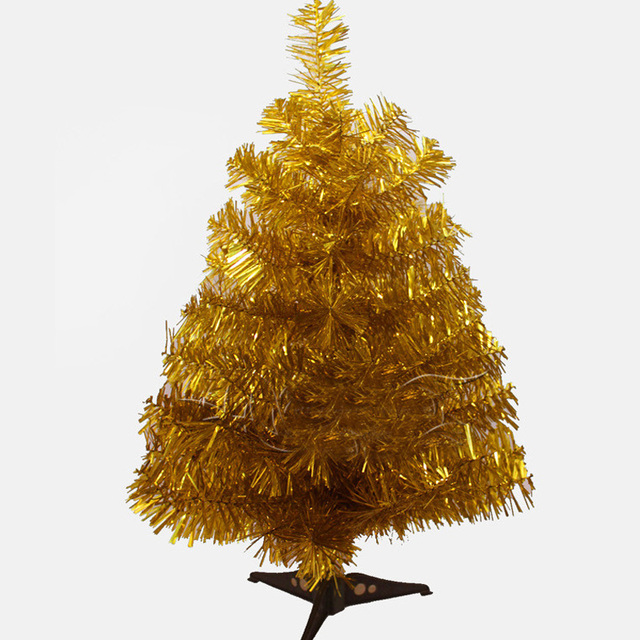 60cm artificial christmas tree small tree in gold color for decoration beauty christmas decoration supplies with - Small Artificial Christmas Tree