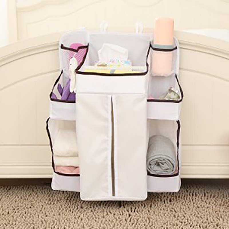 Natural Storage Bag Bedroom Hanging Organizers Baby Finishing Bags Diaper Bed Head Pocket Wall Style Make Up Bath Pocket Holder