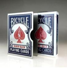 1mm T rostfritt stål Playing Card Clips Hållare för professionella trollkarlar - Blå färg, Card Magic Tricks, Magic tillbehör