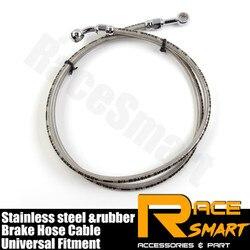 Przewód hamulcowy oleju kablowego rurociąg w oplocie ze stali nierdzewnej kable drutu akcesoria motocyklowe uniwersalny dla Harley touring sportster