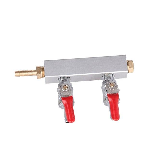 muti - Way homebrew Co2 Air Gas Distribution Manifold Splitter Draft Beer Kegerator 1/4 Barb