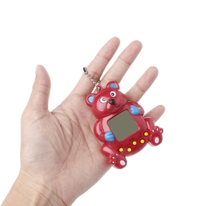 Image 5 - LCD Virtual Digital Pet ręczna elektroniczna maszyna do gier z brelokiem kształt niedźwiedzia