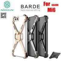 Para Xiaomi Mi6 de Aleación de Aluminio de Parachoques de La Cubierta 5.15 pulgadas NILLKIN Barde Caso de la Contraportada Con el Anillo de Metal Para Xiaomi Millas M6 Mi6