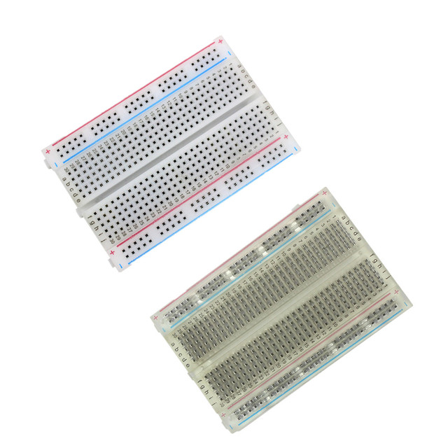 High Quality 400 Breadboard Holes Tie Point Interlocking Solderless PCB Breadboard Mini Breadboard 8.5CM x 5.5CM 400 Holes