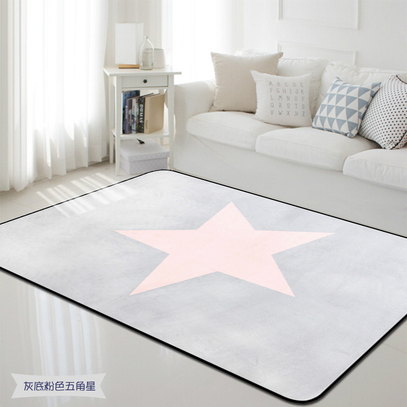 Korean Star Carpet Anti Slip Floor Rug Bath Mat Soft Baby Playing Carpets  For Living Room Indoor Bedroom Rug Kids Room Tapete