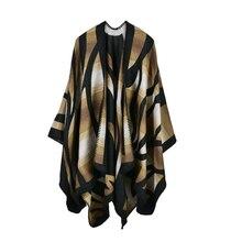 2019 nuevas bufandas de Invierno para mujer, Ponchos y capas de Cachemira, moda femenina, Pashmina, chal tejido, capa de manto, estolas