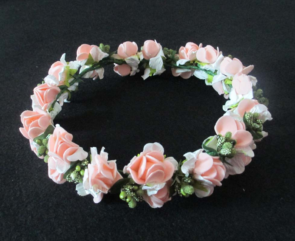 Mori Girl Series wedding bridal girls  accessories wreath flower floral crown for women kids head rose tiara Garland hh5001