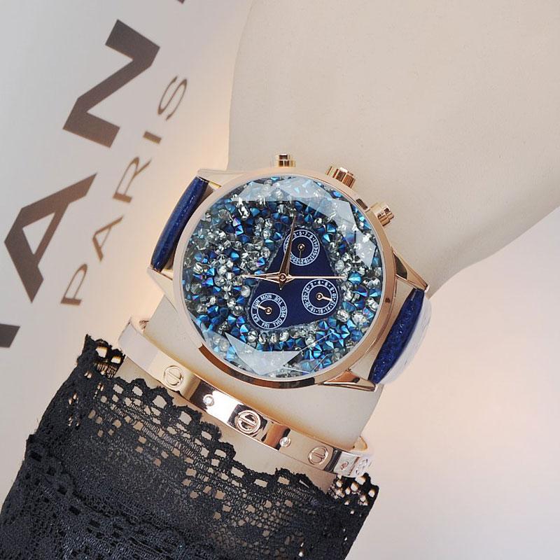 Luxury Elegant Women Wrist Watches Leather Watchband Diamond Female Quartz Clock Ladies Wristwatch reloj mujer Top Quality creative good quality style reloj de pulsera watches women ladies crystal golden alloy mesh band elegant quartz wrist watches