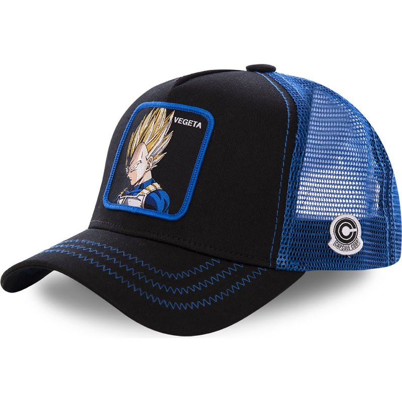 New Dragon Ball Mesh Hat Vegeta Baseball Cap High Quality Curved Brim Black & Blue Snapback Cap Gorras Casquette Dropshipping|Men