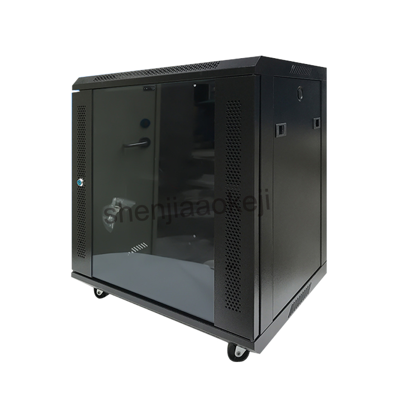 12U Wall-hanging Cabinet Cold-rolled Steel Plate + Electrostatic Spray Cabinet Wall Cabinet Network Cabinet 220V (50Hz) 1pc