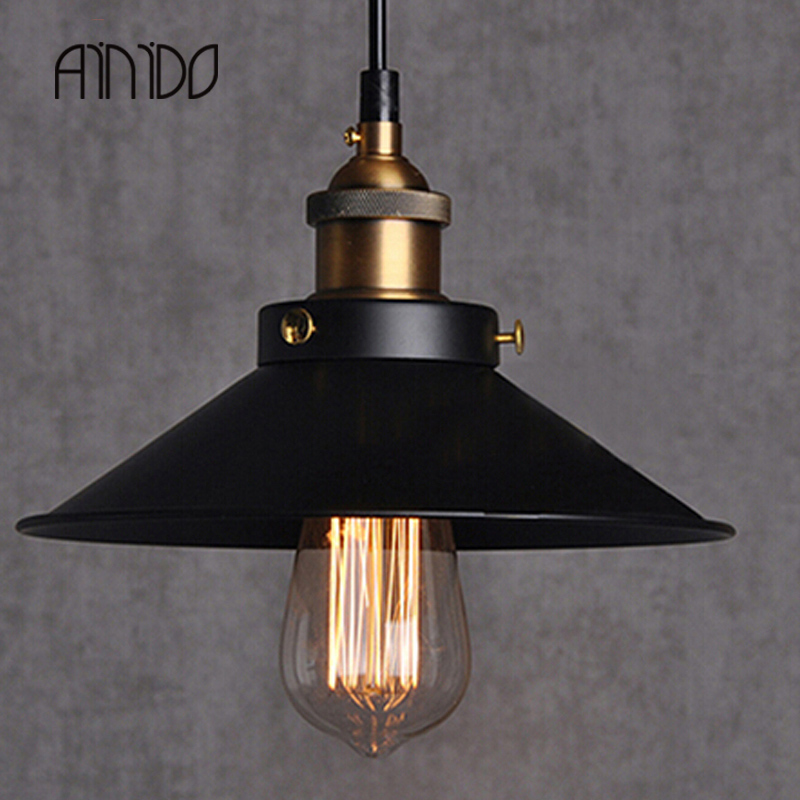 Hot Sale Edison Bulb Vintage Industrial Lighting Copper Lamp Holder Pendant Light American Aisle