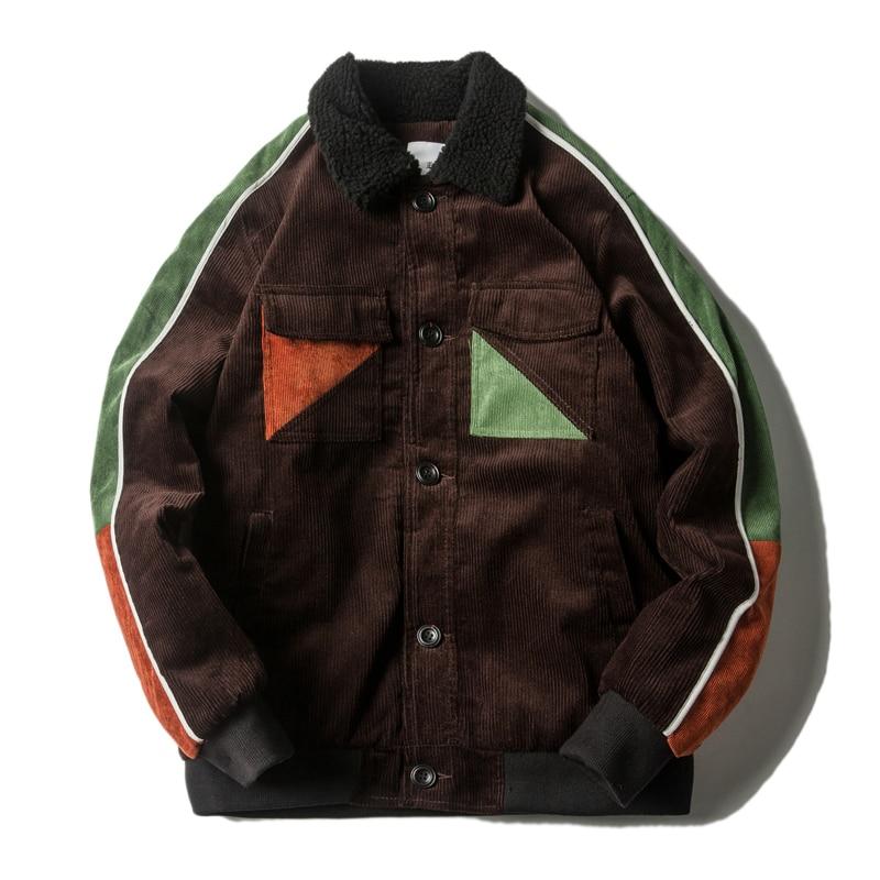 2017 Corduroy Velvet Winter Jacket Parkas Men Brand Clothing Male Cotton Parka Warm Winter Jackets New Top Quality Parkas Men