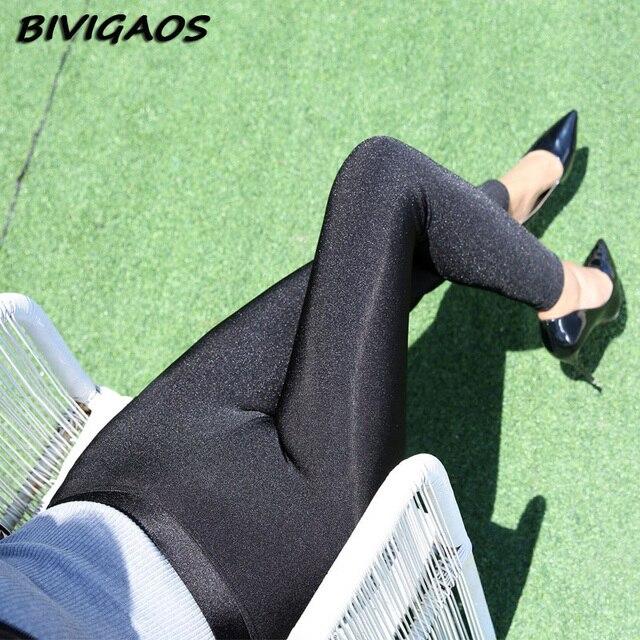 2016 Fall New Winter Women's Plus Size Thick Velvet Leggings Soft Elastic Shiny Black Leggings Warm Leggings Pencil Pants Women