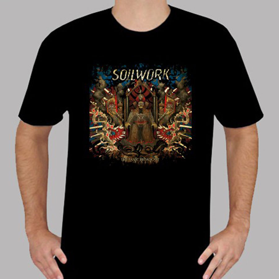 New SOILWORK The Panic Broadcast Rock Band Mens Black T-Shirt Size S To 3XL Stranger Things Print T Shirts Original