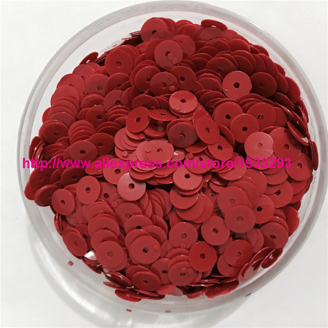4000pcs(50g) Solid Red Color 6mm Flat round loose Sequins Paillette Sewing  Garment Clothing dfabb38ba9aa