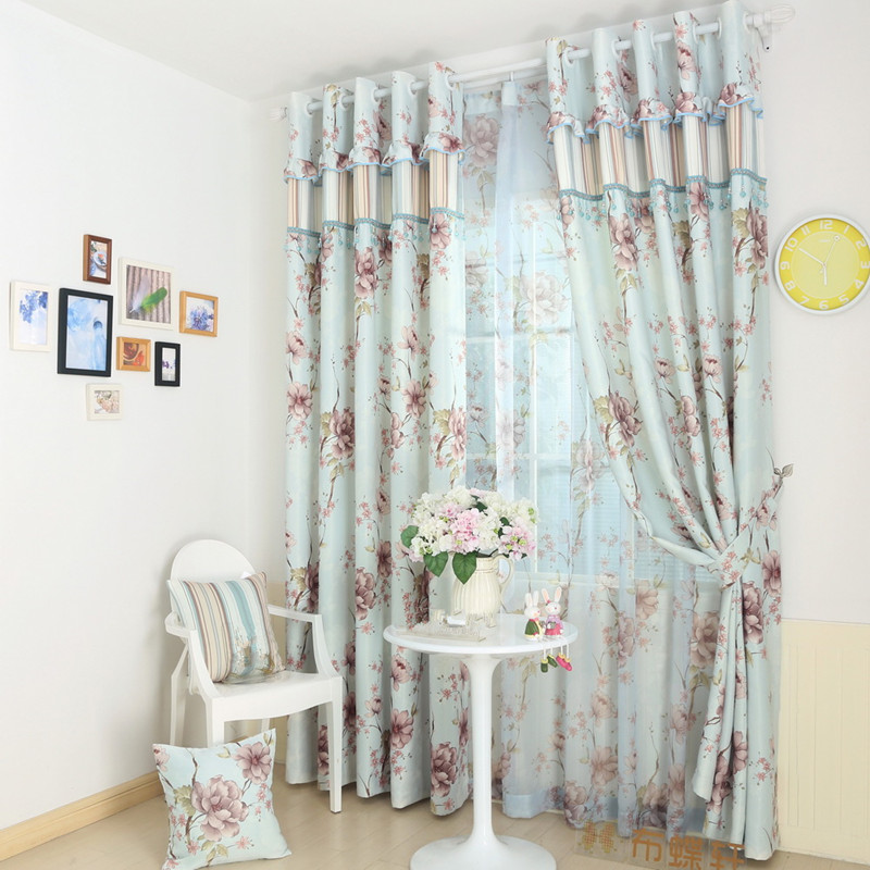 1 Pc Curtain And 1 Pc Tulle Peony Luxury Window Curtains: ₪Window Screening Curtain(blackout 150*270cm*2pcs 【ᗑ