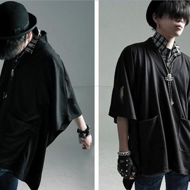 S-5XL 2017 nueva ropa de los hombres GD moda estilista hip hop V cuello.  Sitúa el cursor encima para ... f033b340e65