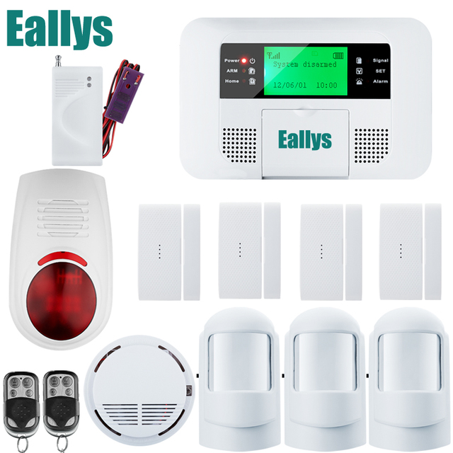 Wireless Gsm Alarm System For Home Security With Door Sensor Pstn Systems