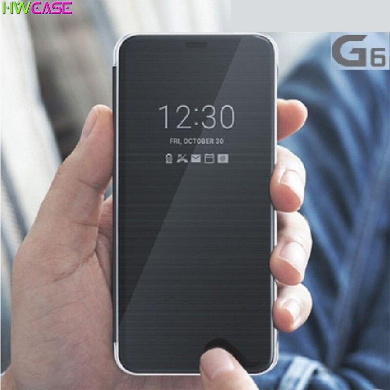 Смарт Быстрое чехол для LG G6 случае вида визуальный Функция Флип кожаный чехол для LG G ...
