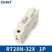 цена на CHINT Cylinder Form Fuse Base RT28N-32X 1P Guide Type Bring Indicator Light Match RT18-32