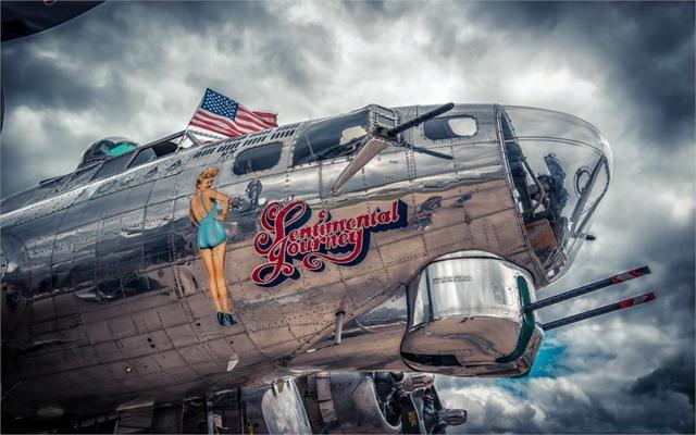 Retro Art Woonkamer : Boeing b flying fortress een zware bomber militaire retro