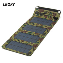 7W Solar Charger Solar Panel Camping Travel Portable Outdoor Foldable For Cellphone Mobile Tablet Kits USB Battery Charging Kits