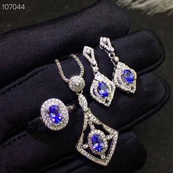Columbia natural tanzanite set ring earrings necklace fashionable with new design quality 925 Silver - DISCOUNT ITEM  25% OFF All Category
